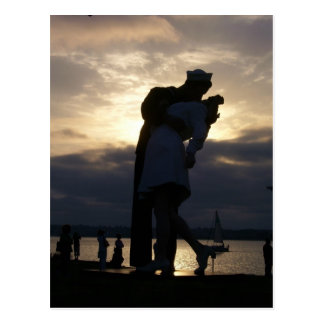 The Kiss at Sunset Postcard