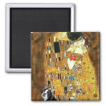 The Kiss - Boston Terrier #4 2 Inch Square Magnet