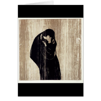The kiss by Edvard Munch lithography, Card