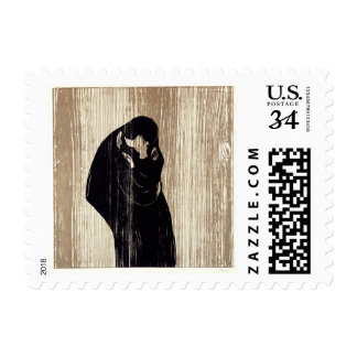 The kiss by Edvard Munch lithography, Postage