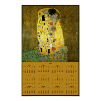 The Kiss by Gustav Klimt ~ 2015 Calendar Poster