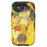 The Kiss by Gustav Klimt Art Nouveau Galaxy S3 Covers