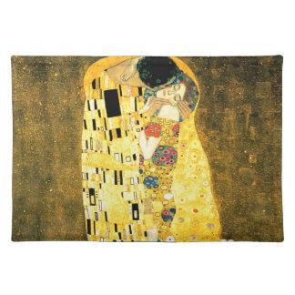 The Kiss by Gustav Klimt Art Nouveau Cloth Placemat