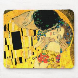The Kiss by Gustav Klimt Art Nouveau Mouse Pad