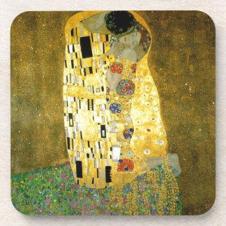 The Kiss by Gustav Klimt Beverage Coaster