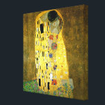 "The Kiss by Gustav Klimt Canvas Print<br><div class=""desc"">The Kiss by Gustav Klimt an Art Nouveau work with gold leaf</div>"