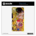 The Kiss by Gustav Klimt Decal For iPhone 4S