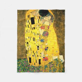 The Kiss by Gustav Klimt Fleece Blanket