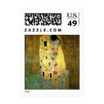 """The Kiss"" by Gustav Klimt for Valentine's Day Stamps"