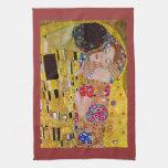 The Kiss by Gustav Klimt Kitchen Towel