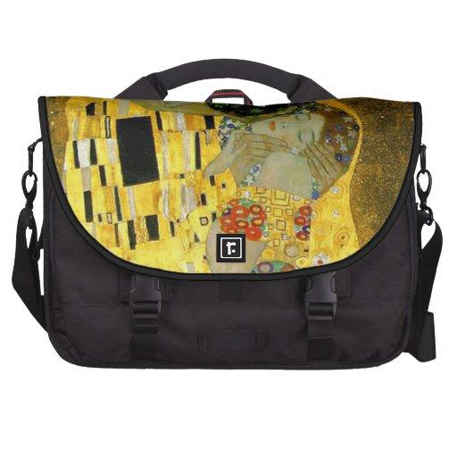 The Kiss by Gustav Klimt Laptop Bags