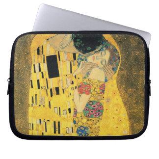 The Kiss by Gustav Klimt Laptop Sleeves