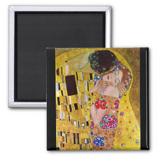 The Kiss by Gustav Klimt 2 Inch Square Magnet