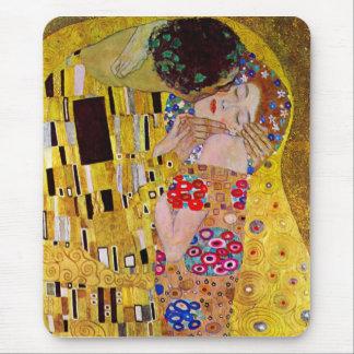 The Kiss by Gustav Klimt Mousepads