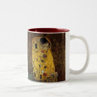 The Kiss by Gustav Klimt Two-Tone Coffee Mug