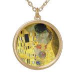 The Kiss by Gustav Klimt Necklaces