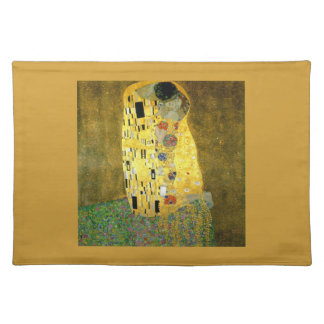 The Kiss by Gustav Klimt Cloth Placemat