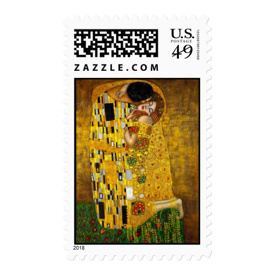 The Kiss by Gustav Klimt Postage