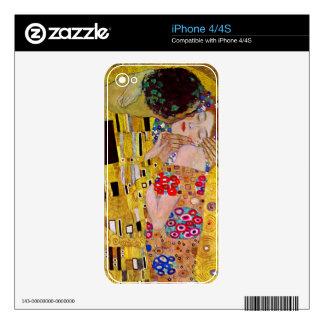 The Kiss by Gustav Klimt Skin For iPhone 4