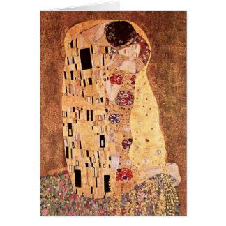 The Kiss by Gustav Klimt Stationery Note Card