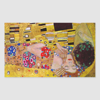 The Kiss by Gustav Klimt Rectangular Sticker