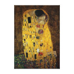 The Kiss by Gustav Klimt Stretched Canvas Print
