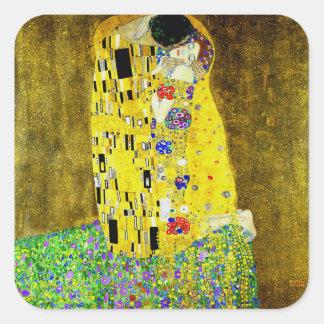 The Kiss by Gustav Klimt,symbolist painter,art Square Sticker