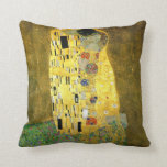 The Kiss by Gustav Klimt Throw Pillows