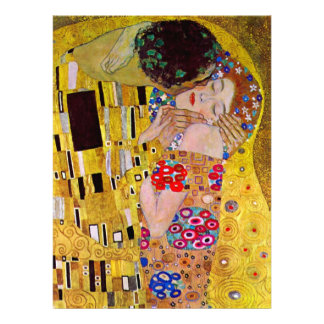 The Kiss by Gustav Klimt Victorian Art Wedding Custom Invitation