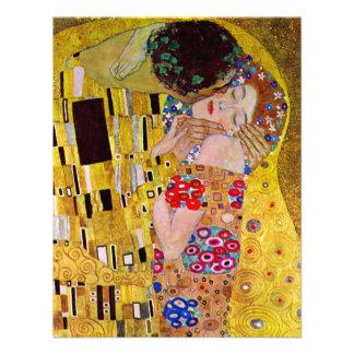 The Kiss by Gustav Klimt Vintage Art Nouveau Custom Invitations