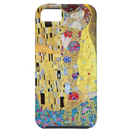 The Kiss by Gustav Klimt, Vintage Art Nouveau iPhone SE/5/5s Case