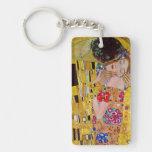 The Kiss by Gustav Klimt, Vintage Art Nouveau Key Chains