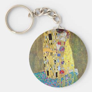 The Kiss by Gustav Klimt, Vintage Art Nouveau Keychain