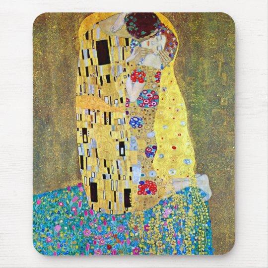 The Kiss by Gustav Klimt, Vintage Art Nouveau Mouse Pad