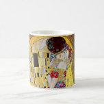 The Kiss by Gustav Klimt, Vintage Art Nouveau Classic White Coffee Mug
