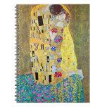 The Kiss by Gustav Klimt, Vintage Art Nouveau Notebook