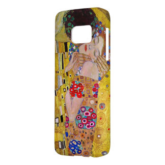 The Kiss by Gustav Klimt, Vintage Art Nouveau Samsung Galaxy S7 Case
