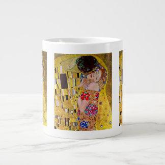 The Kiss by Gustav Klimt, Vintage Art Nouveau Jumbo Mugs
