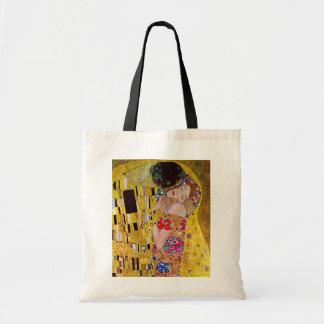 The Kiss by Gustav Klimt, Vintage Art Nouveau Tote Bag