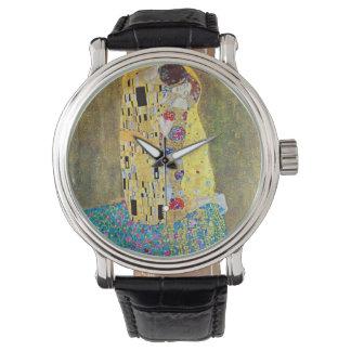 The Kiss by Gustav Klimt, Vintage Art Nouveau Wrist Watches