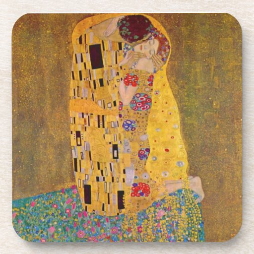 """The Kiss"" by Gustave Klimt Drink Coasters"