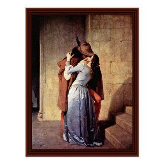 The Kiss By Hayez Francesco Post Cards