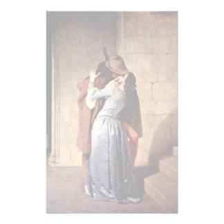 The Kiss By Hayez Francesco Stationery Paper