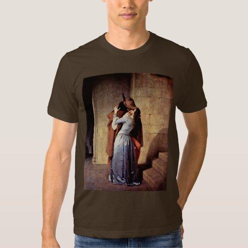 The Kiss By Hayez Francesco T-shirts