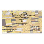 The Kiss by Klimt, Art Nouveau Gold Pattern Design Double-Sided Standard Business Cards (Pack Of 100)