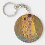 The Kiss by Klimt Basic Round Button Keychain