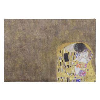 The Kiss by Klimt Golden Wedding Anniversary  Plac Cloth Place Mat