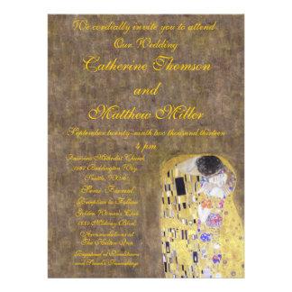 The Kiss by Klimt Wedding Invitation Art Nouveau