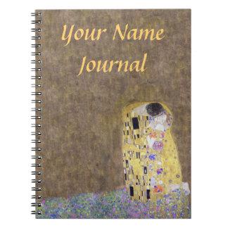 The Kiss Customized Klimt Art Nouveau Note Book