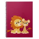 The Kiss: Cute Cartoon Lion Couple Notebook